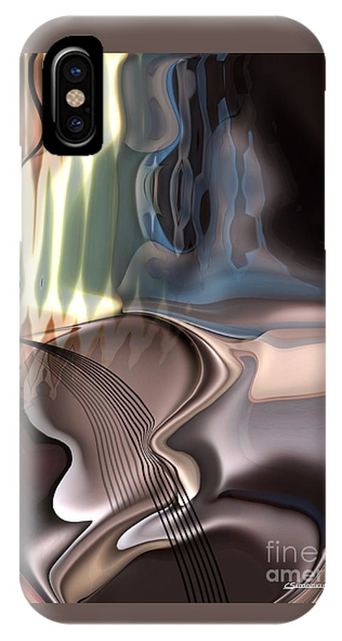 Music IPhone X Case featuring the painting Guitar Sound by Christian Simonian