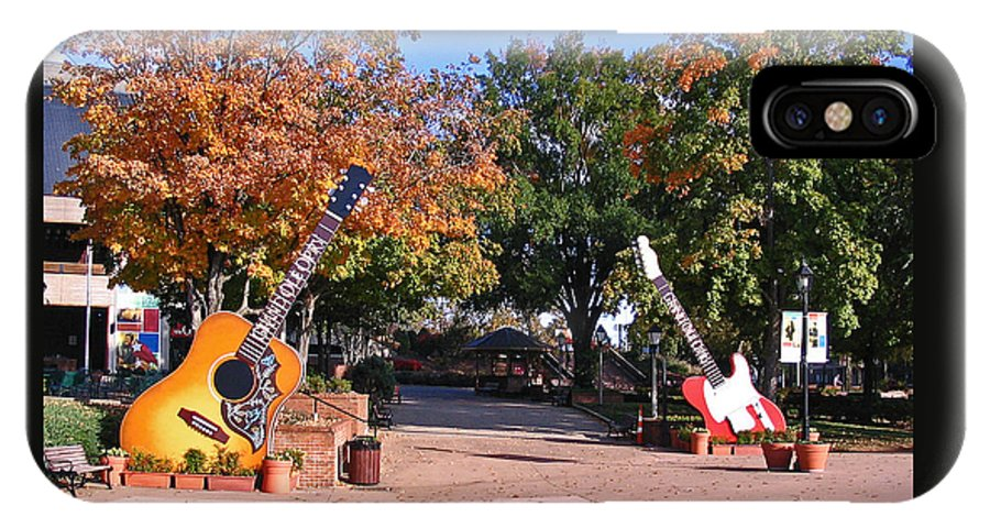 Photograph IPhone X Case featuring the photograph Guitars At The Grand Old Opry by Marian Bell