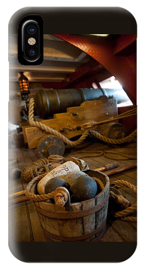 Nautical IPhone X Case featuring the photograph Gunnery Port by Clifford Beck