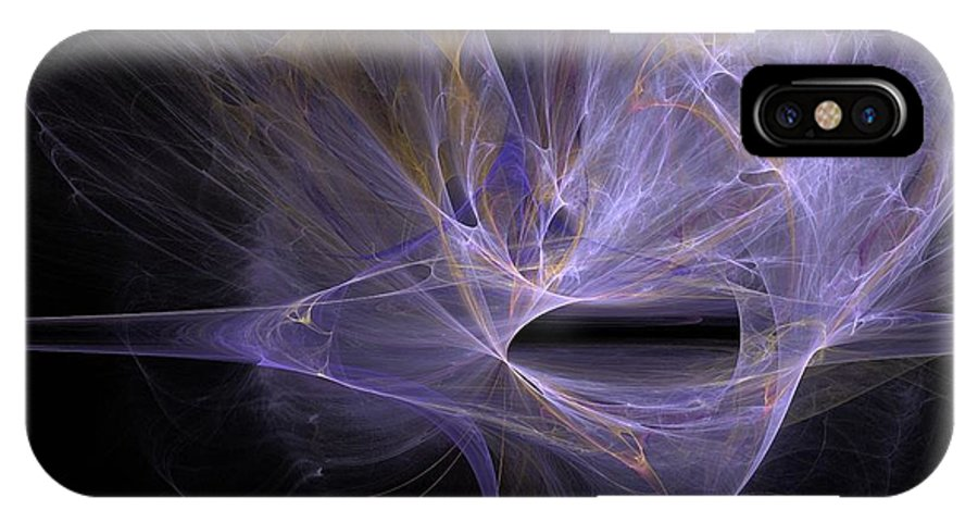 Gush Of Light IPhone X Case featuring the digital art Gushes Of Light by Solomon Barroa