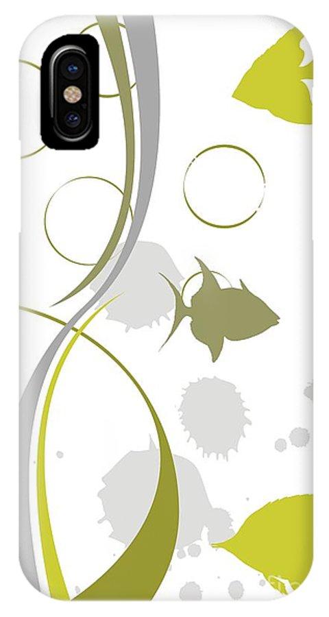 Graphics IPhone X Case featuring the digital art Gv078 by Marek Lutek