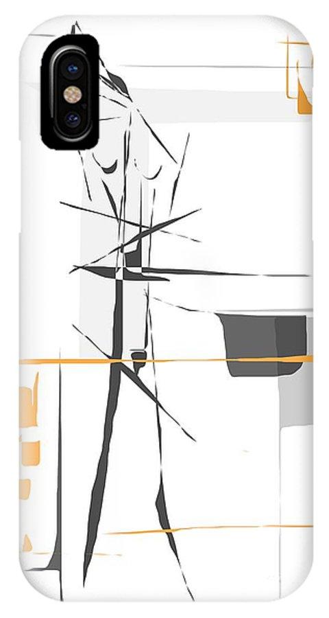 Graphics IPhone X Case featuring the digital art Gv100 by Marek Lutek