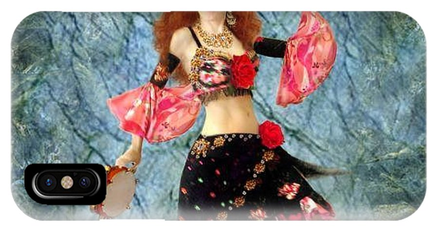 Gypsy IPhone X Case featuring the jewelry Gypsy Queen Sofia The Bellydancer by Sofia Metal Queen