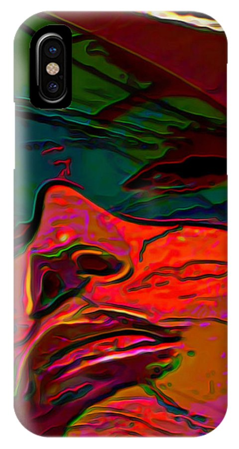 Fli IPhone X Case featuring the painting H3ad Sh0ts 14 by Fli Art