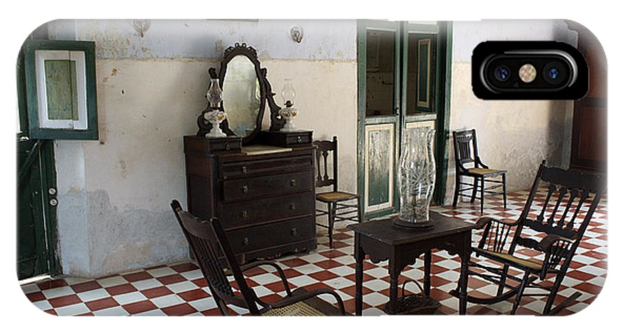 Mexico IPhone X Case featuring the photograph Hacienda Room Yaxcopoil Mexico by John Mitchell