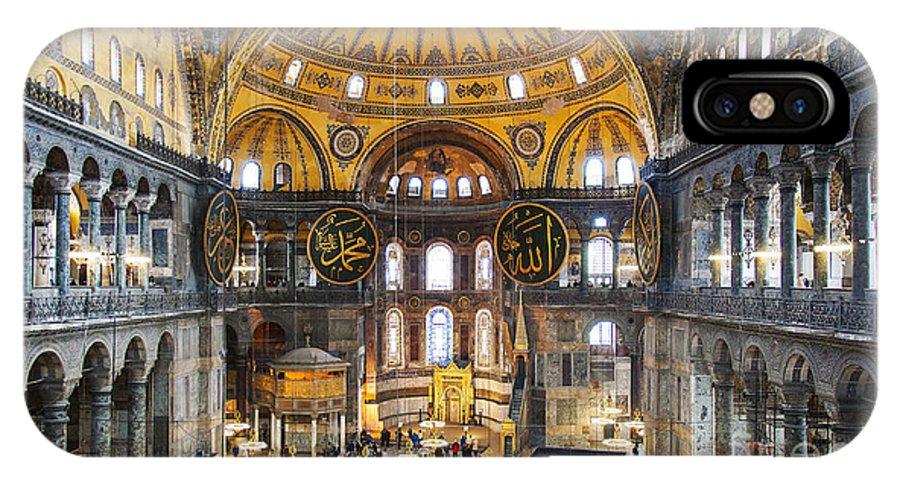 Hagia IPhone X Case featuring the photograph Hagia Sofia Interior 35 by Antony McAulay