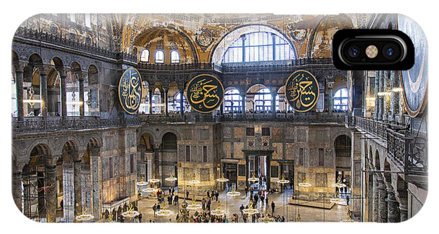 Hagia IPhone X Case featuring the photograph Hagia Sofia Interior 42 by Antony McAulay