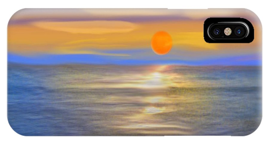 Sunset IPhone X Case featuring the digital art Haifa.Miracle sunset by Dr Loifer Vladimir