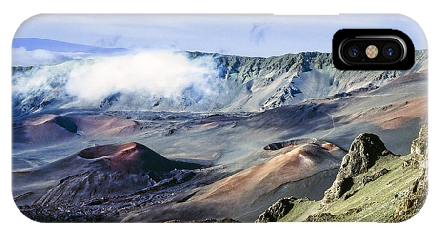 Haleakala IPhone X Case featuring the photograph Haleakala Crater by Kelley King