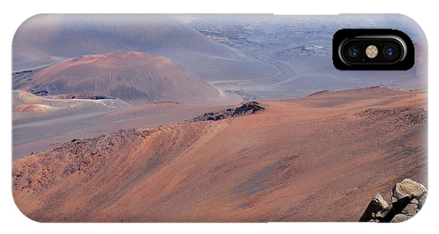 Landscape IPhone X Case featuring the photograph Haleakala by Marcia b Wood