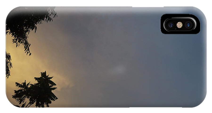 Sky IPhone X Case featuring the painting Half Dark by Flordilyn Lleno