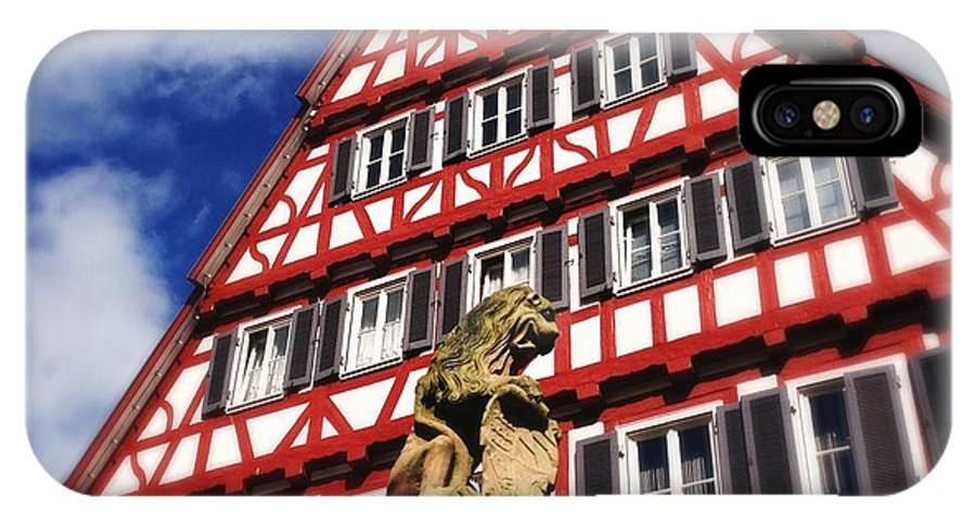 Half-timbered IPhone X Case featuring the photograph Half-timbered house 07 by Matthias Hauser