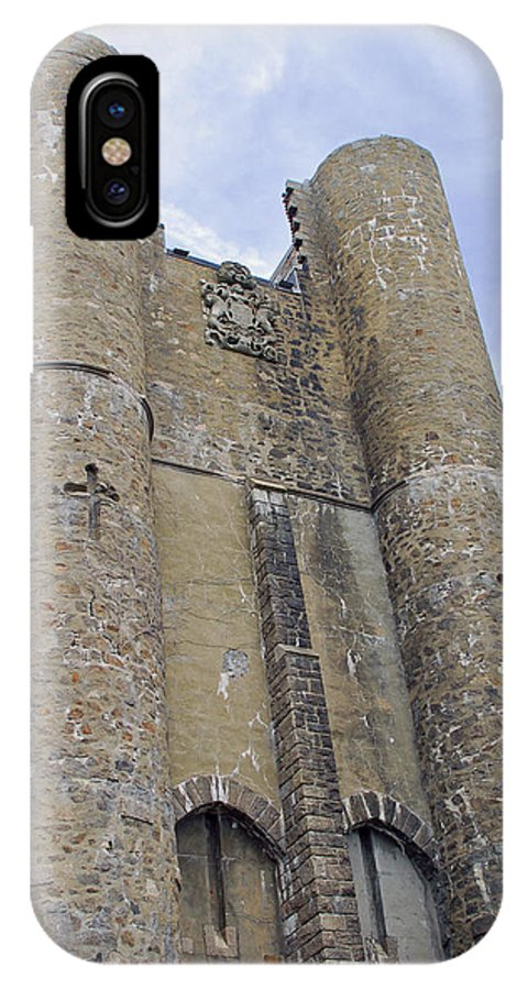 Hammond Castle IPhone X Case featuring the photograph Hammond Castle Detail II by Suzanne Gaff