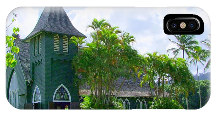 Church IPhone X Case featuring the photograph Hanalei Church by Mary Deal