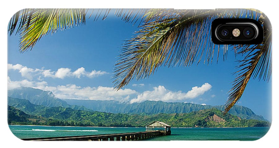 Bay IPhone X Case featuring the photograph Hanalei Pier And Beach by M Swiet Productions