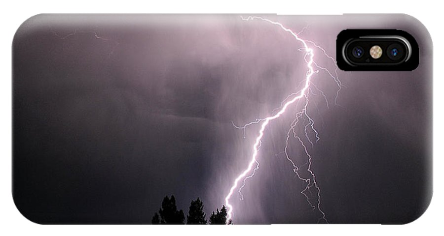 Lightning IPhone X Case featuring the photograph Hand Of Zeus by Jim Southwell