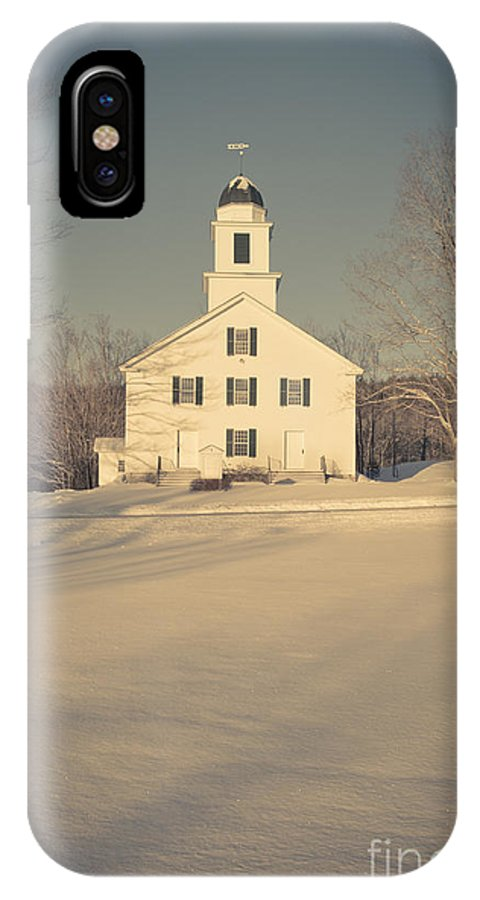 Etna IPhone X Case featuring the photograph Hanover Center Church Etna New Hampshire by Edward Fielding
