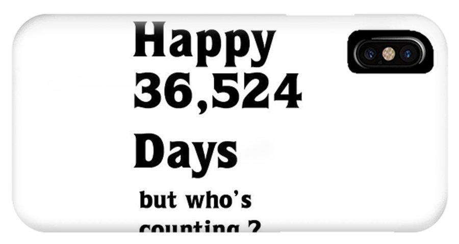 Birthday IPhone X Case featuring the digital art Happy 100th Birthday by Florene Welebny