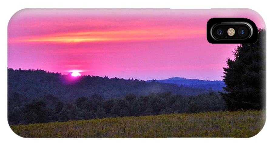 Flowers IPhone X Case featuring the photograph Happy Anniversary Sunset by Anthony Thomas