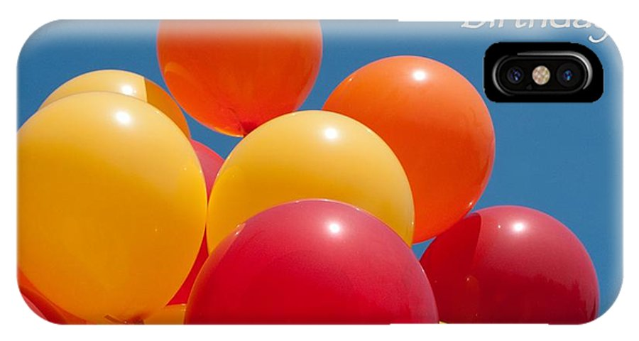Happy Birthday IPhone X Case Featuring The Photograph Balloons By Ann Horn