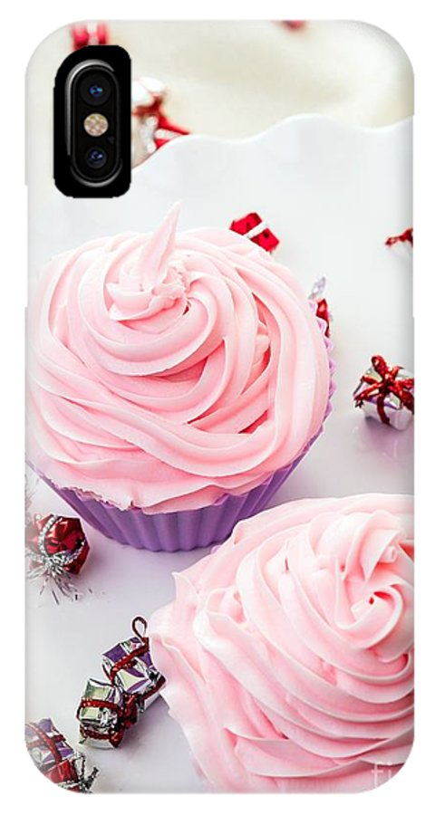 Card IPhone X Case featuring the photograph Happy Birthday Cupcakes by Edward Fielding