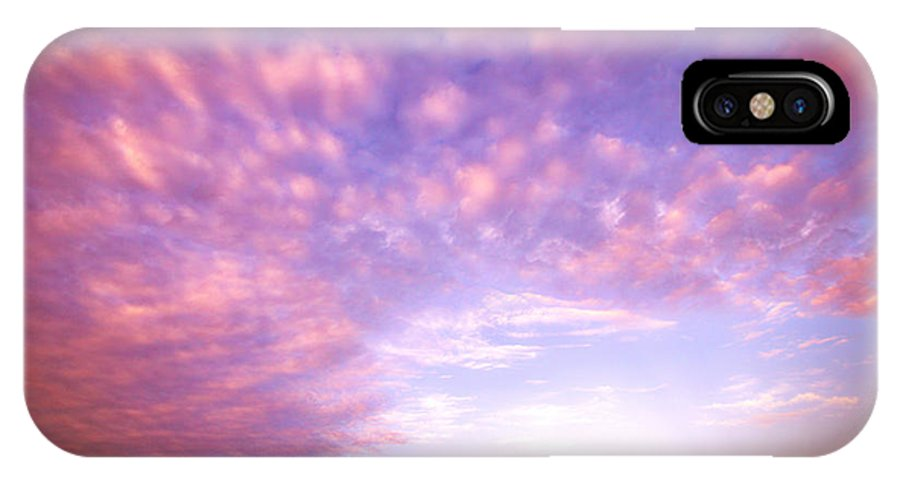 Water IPhone X Case featuring the photograph Happy Clouds by Carlos Palacios