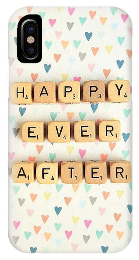 Scrabble Blocks IPhone X Case featuring the photograph Happy Ever After by Mable Tan