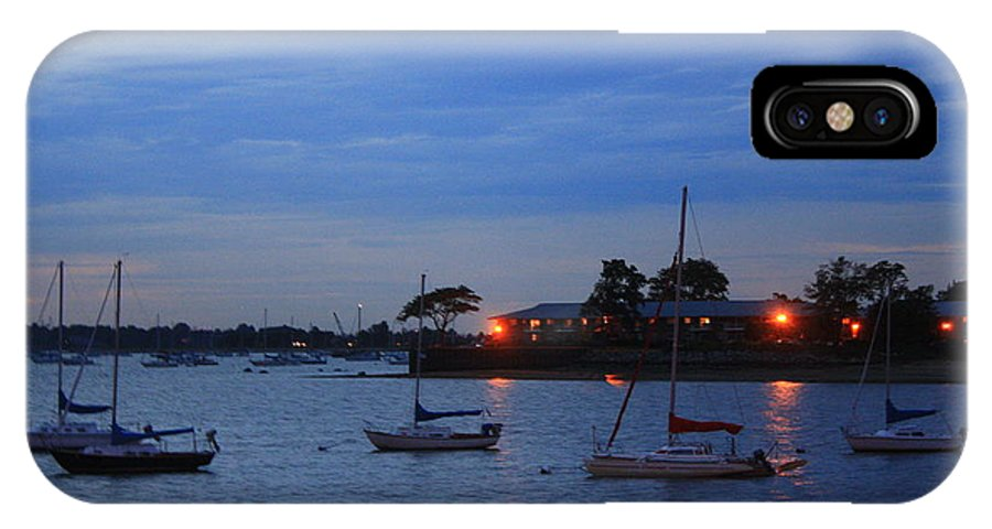 Sunsets IPhone X Case featuring the photograph Harbor Lights by Dora Sofia Caputo Photographic Design and Fine Art