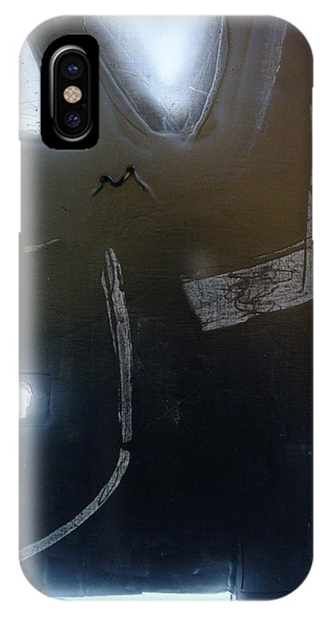 IPhone X Case featuring the painting harbour towards NY 'bent metal' by Mark Fearn