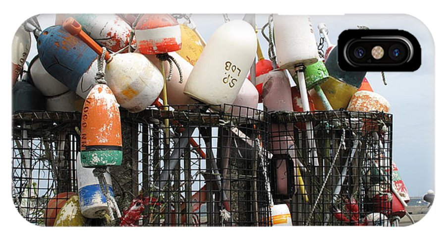 Buoys IPhone X / XS Case featuring the photograph Hard Working Buoys by Barbara McDevitt