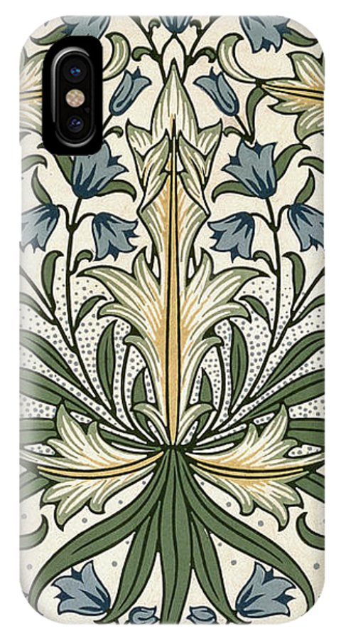 William IPhone X Case featuring the tapestry - textile Harebell Design 1911 by William Morris