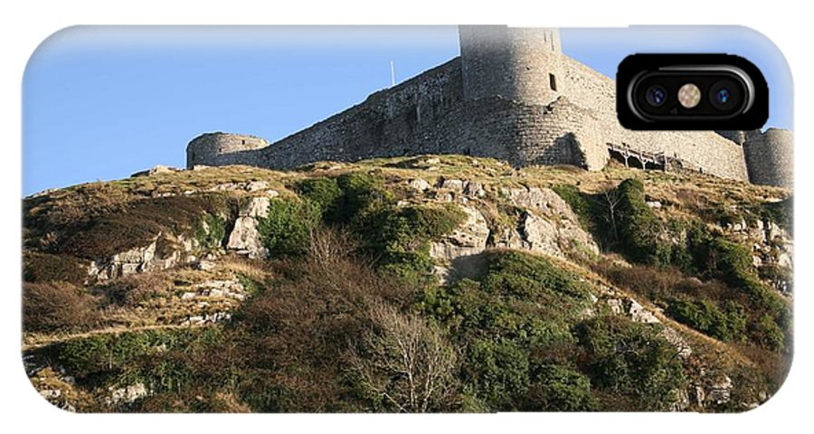 Castles IPhone X Case featuring the photograph Harlech Castle by Christopher Rowlands