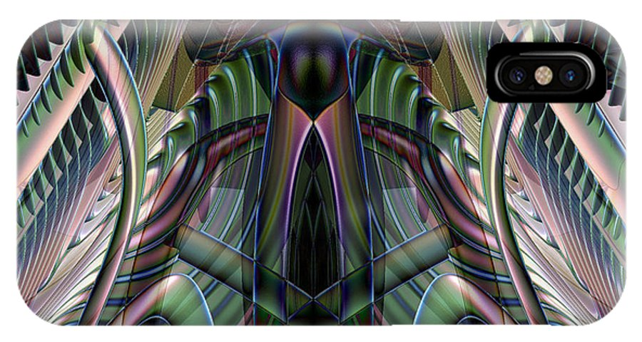 Incendia IPhone X Case featuring the digital art Harmonic Moton by Michele Caporaso