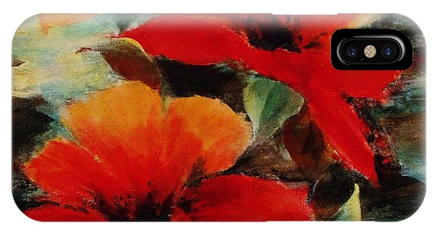 Canvas Prints IPhone X Case featuring the painting Harmony 2 by Madeleine Holzberg