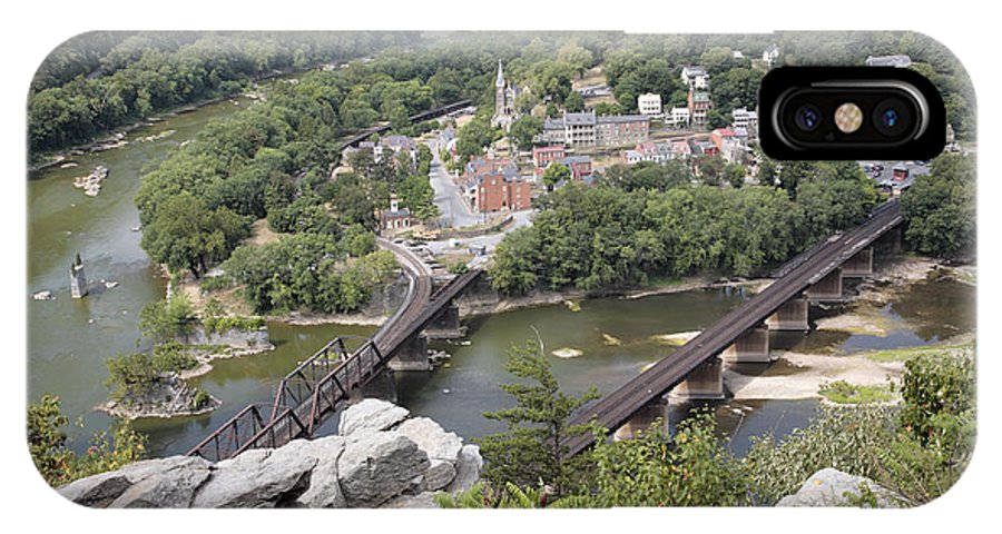 Potomac IPhone X Case featuring the photograph Harpers Ferry Viewed From Maryland Heights by William Kuta