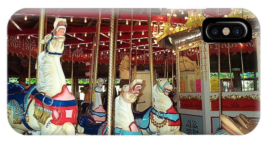 Carousel IPhone X Case featuring the photograph Hartford Carousel by Barbara McDevitt