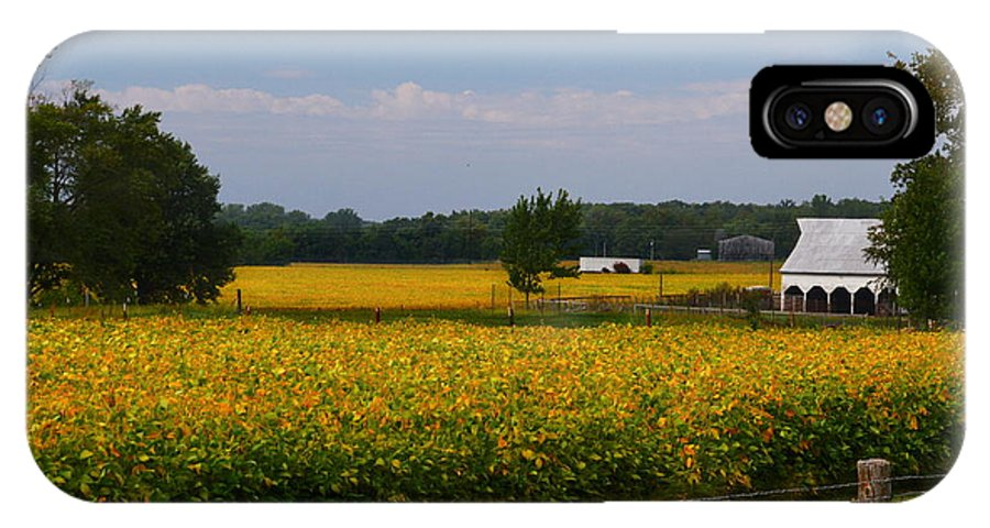 IPhone X / XS Case featuring the photograph Harvest Time by Kim Blaylock
