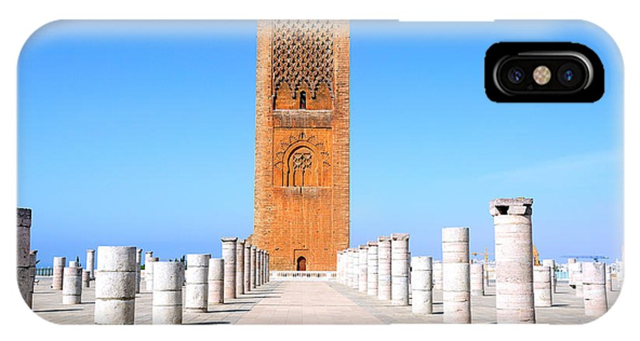 Hassan IPhone X Case featuring the photograph Hassan Tower Rabat by Apurva Madia