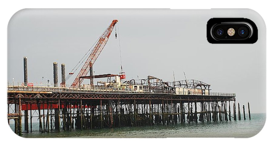 Hastings IPhone X Case featuring the photograph Hastings Pier Reconstruction by David Fowler