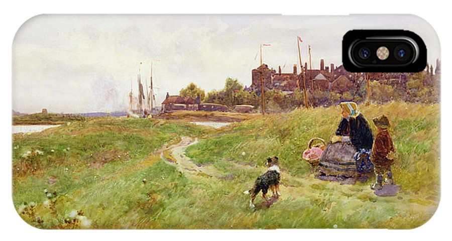 Landscape IPhone X Case featuring the painting Hastings by Thomas James Lloyd