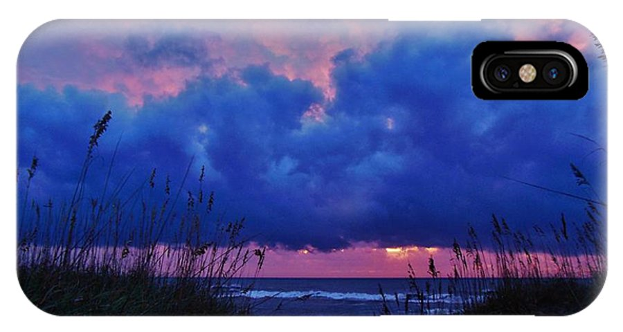 Mark Lemmon Cape Hatteras Nc The Outer Banks Photographer Subjects From Sunrise IPhone X Case featuring the photograph Hatteras Island Sunrise 1 11/01 by Mark Lemmon