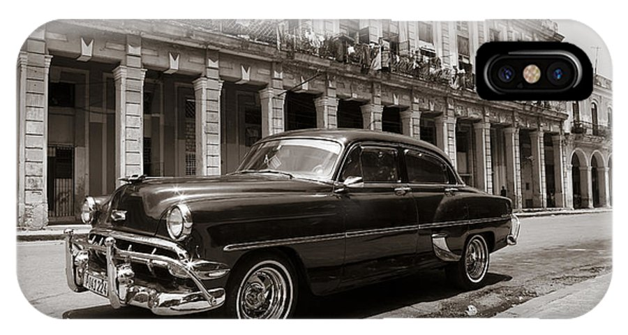 Havana IPhone X Case featuring the photograph Havana Chevy by Chris Dutton