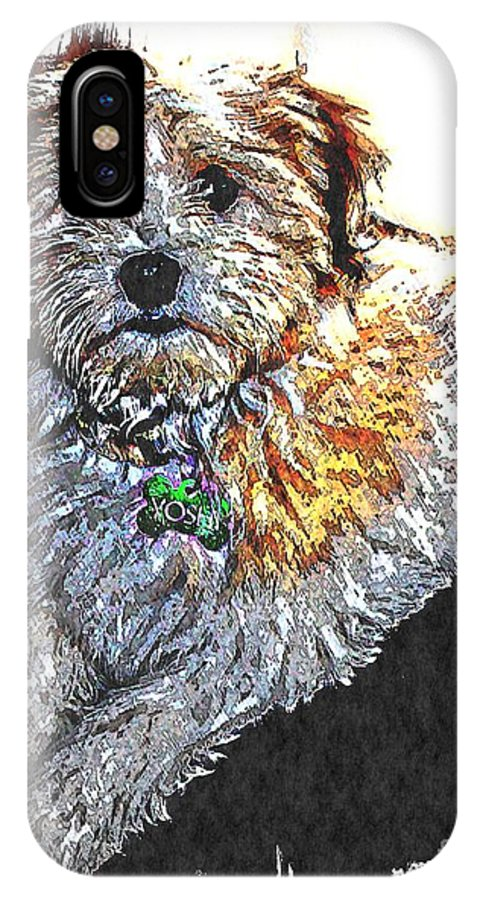 Havanese Puppy IPhone X Case featuring the photograph Havanese Puppy by Barbara Griffin