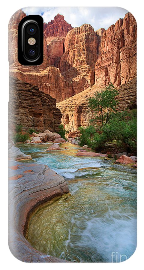 America IPhone X Case featuring the photograph Havasu Creek by Inge Johnsson