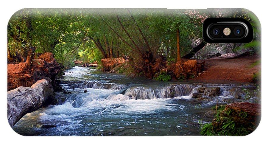 Arizona IPhone X Case featuring the photograph Havasu Creek by Kathy McClure