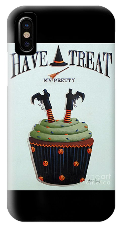 Art IPhone X Case featuring the painting Have A Treat My Pretty by Catherine Holman