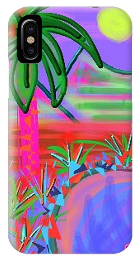 Abstract IPhone X Case featuring the digital art Hawaii In My Dreams by Nancy Good