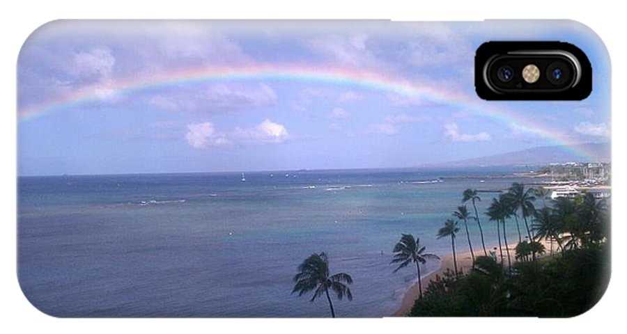 Landscape IPhone X Case featuring the photograph Hawaii Rainbow by Kevin Brown