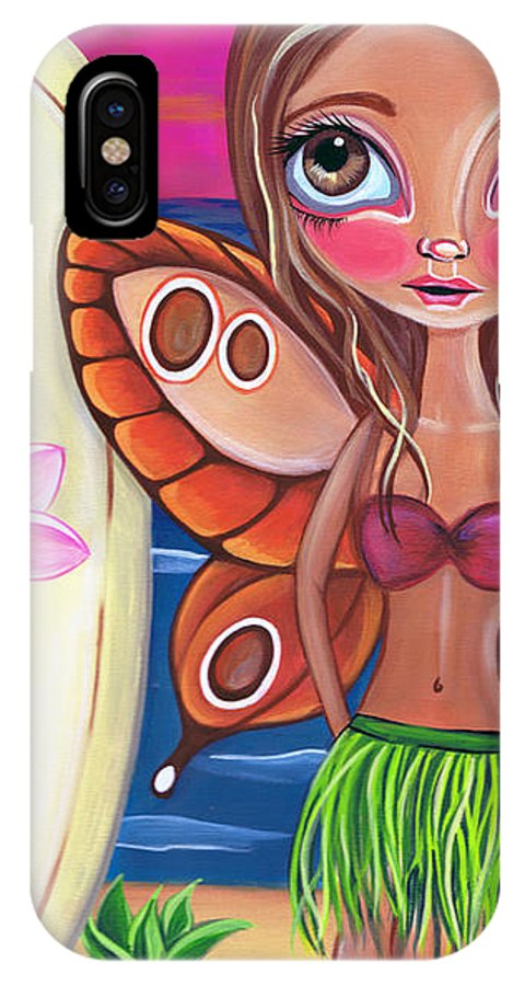 Fine IPhone X Case featuring the painting Hawaiian Fairy by Jaz Higgins