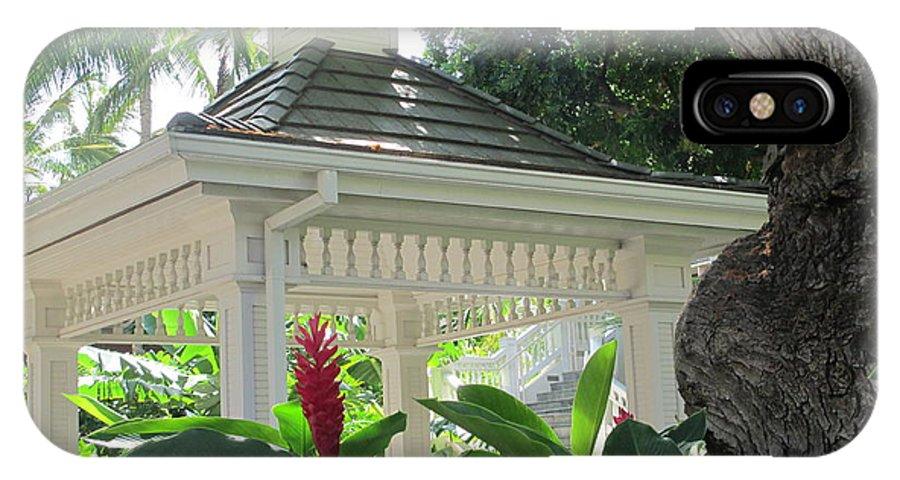 Elaine Haakenson IPhone X Case featuring the photograph Hawaiian Gazebo by Elaine Haakenson